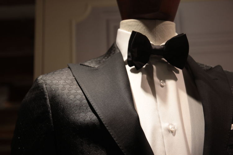 Close-Up Of Suit On Mannequin At Store