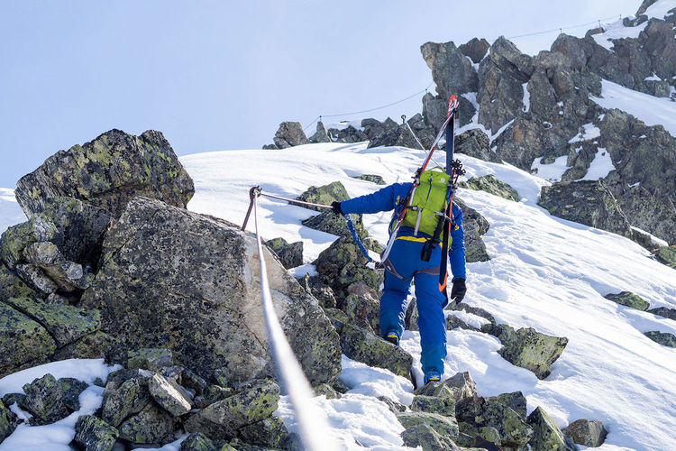 A real winter adventure – via ferret at sankt Anton am Arlberg. Adventure Backpack Climbing Cold Temperature Extreme Sports Freeriding, Ascent, Adventure Klettersteig Mountain Outdoors RISK Rock - Object Scenics Ski, Skitouring, Via Ferrata Snow Vacations Winter