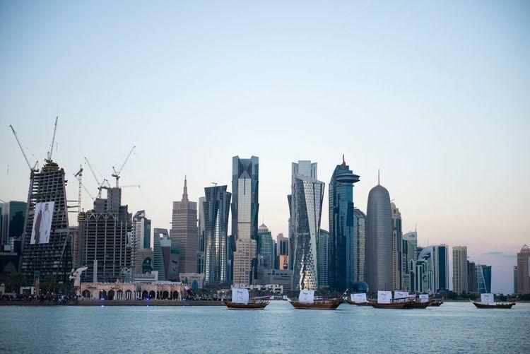 Doha,Qatar Skyscraper Architecture City Urban Skyline Building Exterior Built Structure Cityscape