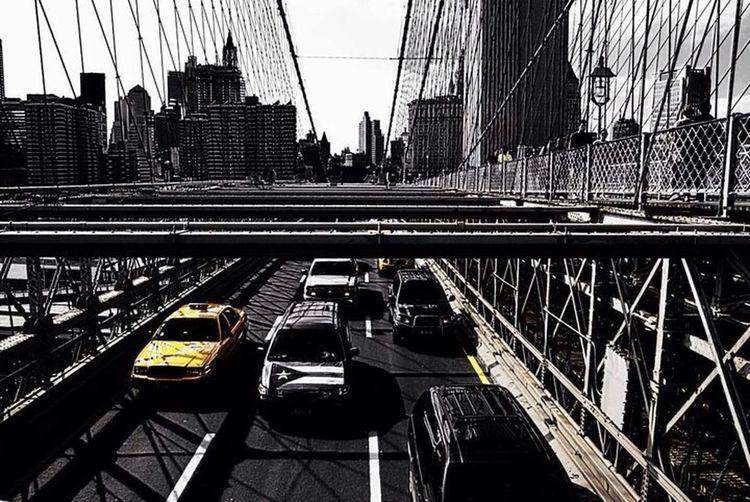 New York Black And White The Best Of New York Cab Yellow Cabs Bridge Brooklyn Bridge  Popular Photos EyeEmBestPics EyeEm Best Shots The City Light