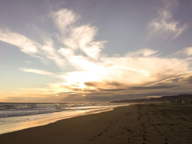 Gavà Beach Landscape Sea And Sky Sea Sunset Mediterranean  Sky Seaside