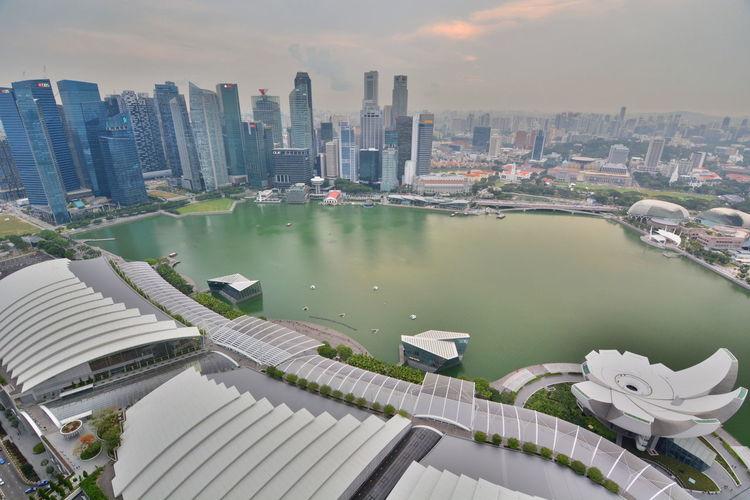 Singapore Skyline At Waterfront