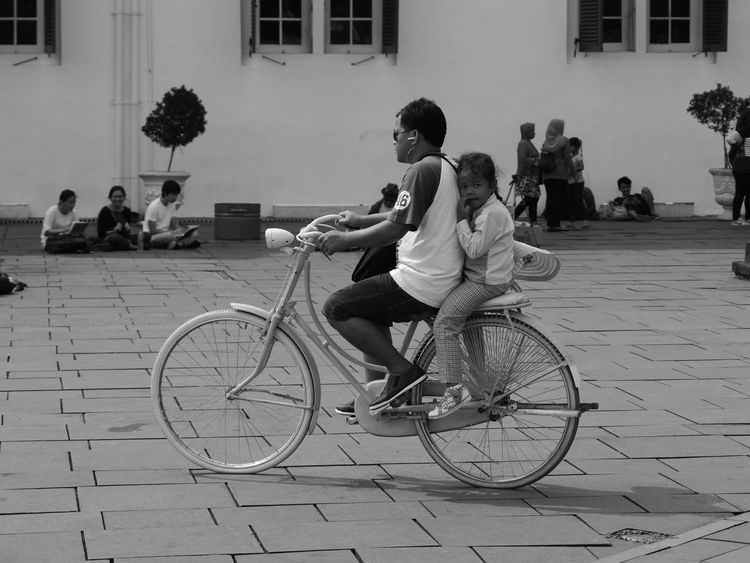 The Street Photographer - 2017 EyeEm Awards Bicycle Transportation Land Vehicle Cycling Mode Of Transport Adult Outdoors Full Length Day People Adults Only Building Exterior Pedal Only Men Young Adult City One Person