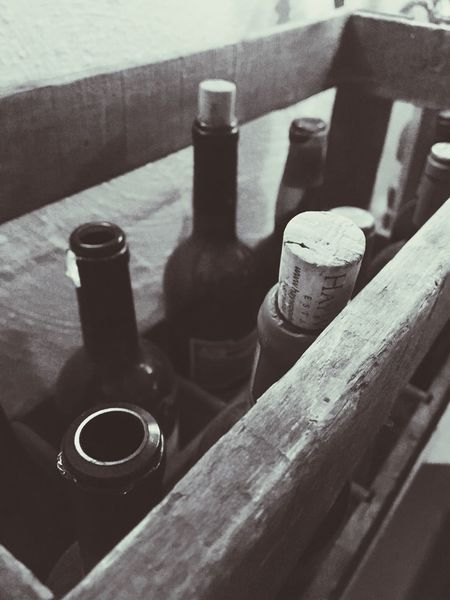 Still Life Indoors  Bottle Wood - Material No People Food And Drink Close-up Alcohol Wine Winebottles Emptybottles Hygge Winecave