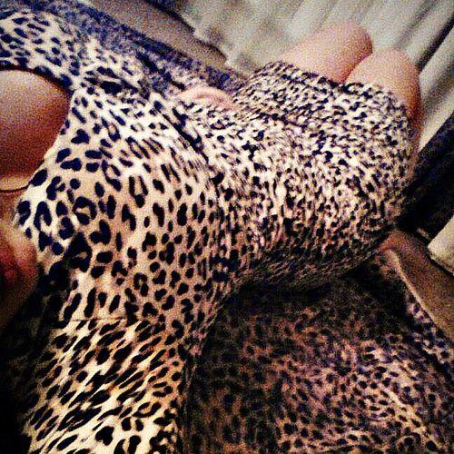 Leopard Dress Sexy Girl Relaxing