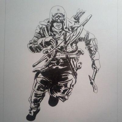 Assassinscreed3 Connor Americanrevolution Sketch worldofpencils artassistant