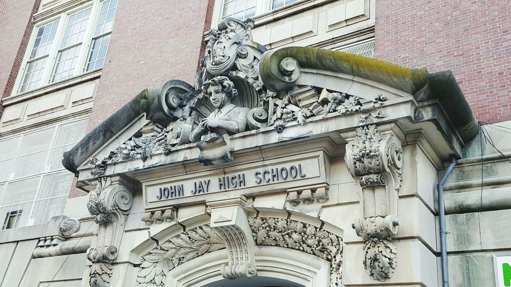 OpenEdit Architecture Architecture_collection Archway NYC Photography Building Exterior Bust  Brooklyn Park Slope Park Slope, Brooklyn 1900s 1900's Buildings John Jay