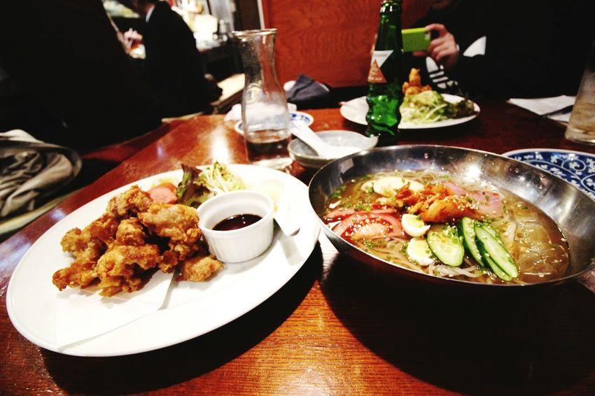 九州旅行 12302015 とり天 別府 冷麺 夕食