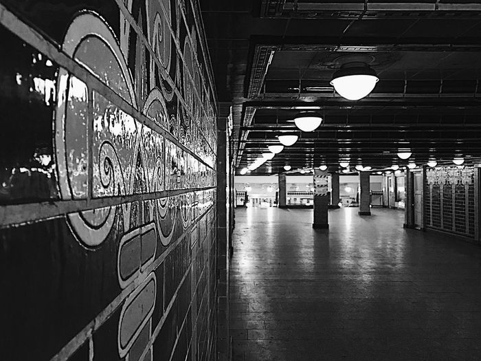 Indoors  Illuminated Architecture No People Architecture Day berlin Underground subway Contrast blackandwhite Bnw