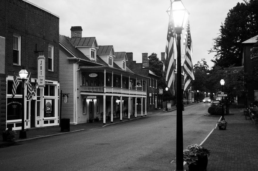 Architecture Black & White Black And White Blackandwhite Photography Building Built Structure City City Life City Street Diminishing Perspective Monochrome Old-fashioned Road Sky The Way Forward Tourist Vanishing Point oldest town in tennessee