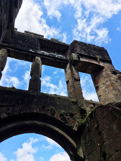 Cloud - Sky Sky Low Angle View History Old Ruin Architecture Arch Day Built Structure No People Outdoors Travel Destinations Building Exterior Ancient Civilization Castles Countryside