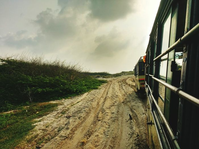 Mud road Mud Road Bus Traveling Travel Clouds And Sky Cloud The Traveler - 2018 EyeEm Awards Journey Sky Cloud - Sky Public Transportation