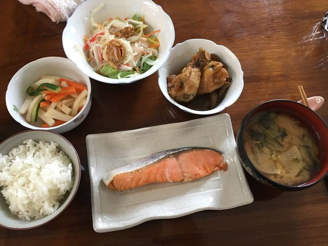 Japanese Food Food Food And Drink Bowl Freshness Table Healthy Eating Ready-to-eat Close-up Day No People Chopsticks Meat Lunch Soup Plate Seafood Serving Size Meal High Angle View Indoors