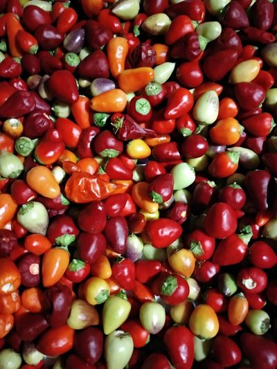 So hot. Red Food And Drink Food Healthy Eating Vegetable Backgrounds Green Color Healthy Lifestyle Close-up Nature Colour Colour Of Life Peppers Hot Spring Hottie Chili Pepper Multicolor Foodphotography Natural Photography Agriculture No People Vegetarian Food Indoors  Fruit Full Frame Food Stories