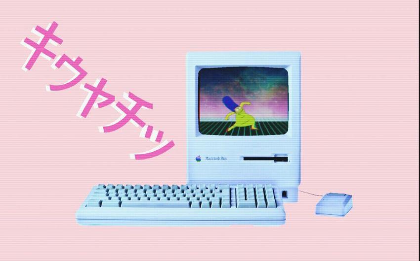 Vaporwave Macintosh Marge Simpson The Simpsons Krumping Pastel