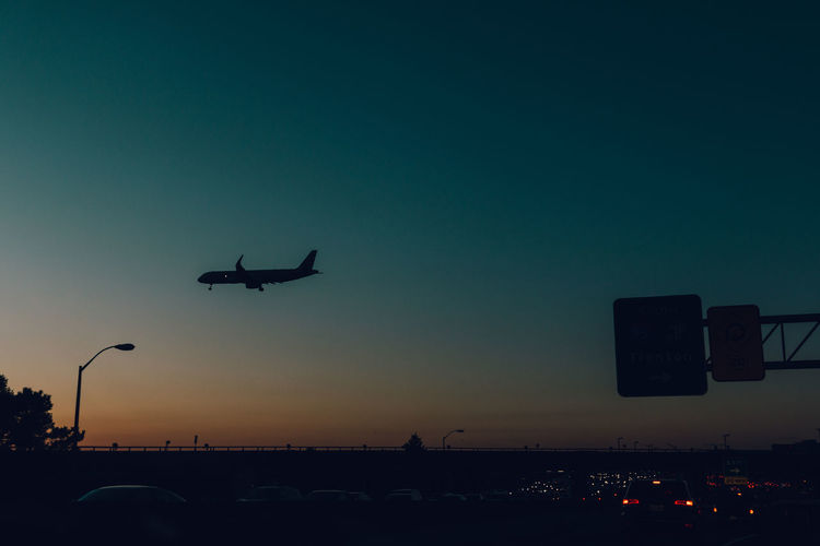 New York New York City VSCO Air Vehicle Airplane Clear Sky Day Flying Journey Mode Of Transport Moody Nature No People Outdoors Silhouette Sky Sunset Transportation Vscocam