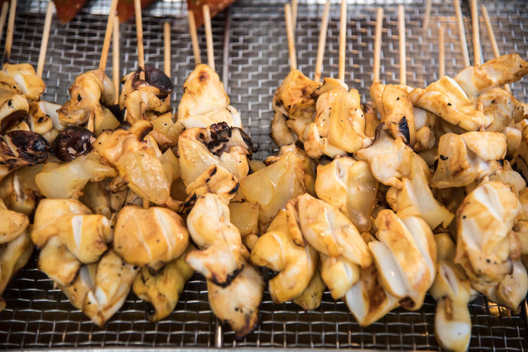 Barbecue Barbecue Grill Close-up Day Food Food And Drink Freshness Grilled Healthy Eating Meat Metal Grate No People Outdoors Preparation  Ready-to-eat