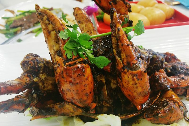 Black Pepper Crab Food Food And Drink Close-up Freshness Indulgence Ready-to-eat Temptation Serving Size Focus On Foreground No People Meal Main Course Cooked Food Styling Appetizer Blackpepper Crab Blackpepper Crab Seafood Restaurant Seafoods