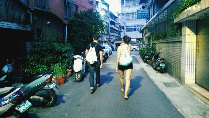 Chia and Ben in Shilin, Taipei