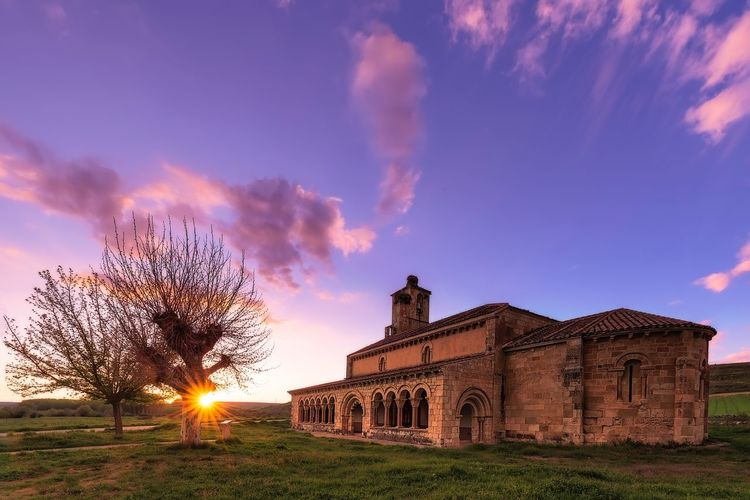 Church at sunset Church Religious  Light Sky Architecture Built Structure Cloud - Sky Building Exterior Nature Tree No People Building Beauty In Nature History Sunlight Sunset The Great Outdoors - 2018 EyeEm Awards A New Beginning My Best Photo Architecture Tree Travel Destinations Sunlight Arch Outdoors Travel Stay Out