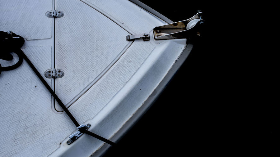 High angle view of car