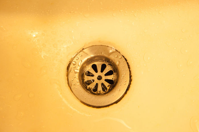 View of the sink Bathroom Sink Bubble Circle Cleaning Close-up Domestic Kitchen Domestic Room Drain Faucet Hygiene Indoors  Metal Molten No People Shiny Sink Stainless Steel  Steel Wash Bowl Washing Water Wealth Yellow