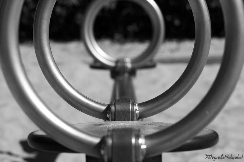 Close-up Single Object Metal Focus On Foreground Man Made Object Part Of Selective Focus Extreme Close-up No People Playground Playground Equipment Playground Structure Concentric