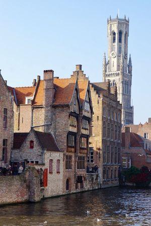 Brugge Architecture Belfry Water