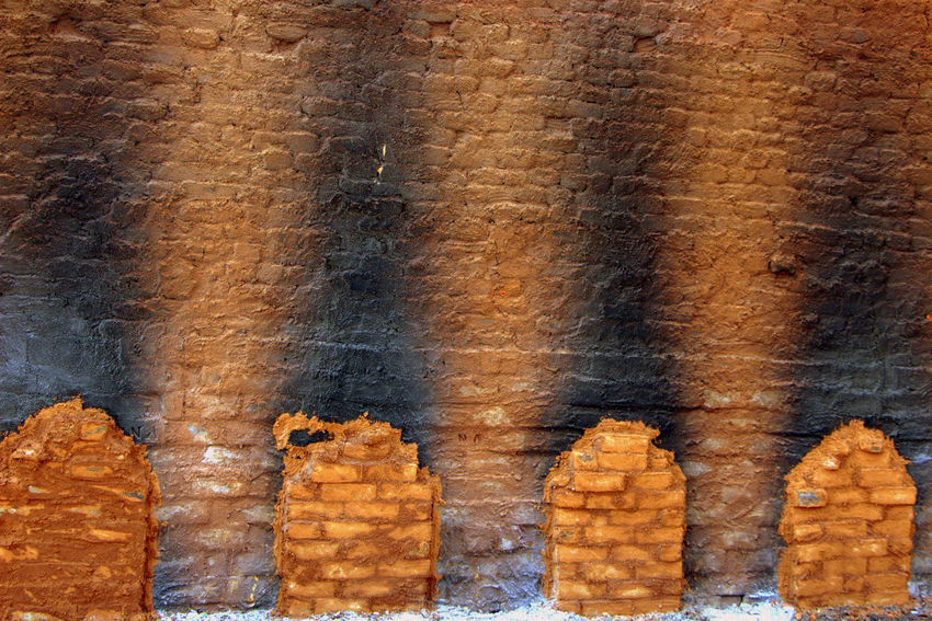 Bricks Bangalore Bricks Bricks In The Wall Bricks Making Bricks Pattern Brickstones Brickswork Brown Color Handmade India Mud People Pottery Reddish Brown
