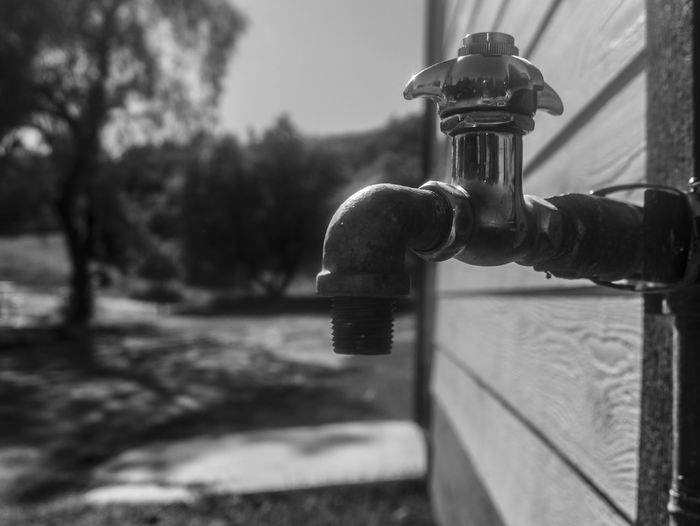 Blackandwhite Close-up Day Faucet First Eyeem Photo Happy Metal Monochrome No People Outdoors Water