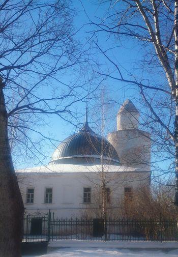 Старая мечеть в Касимове. Architecture архитектура пейзаж Tree Snow City Sky Building Historic