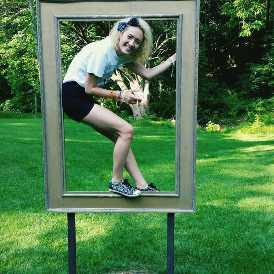 ALL smiles.Crystal Bridges Art Picture Frame