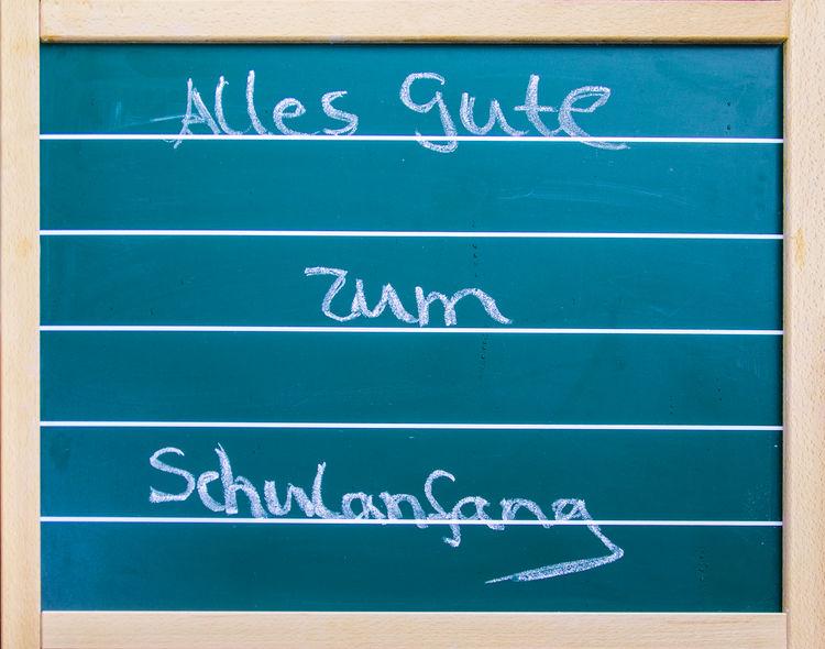 Blue Close-up Communication Day Enrollment Guidance No People Outdoors School Schoolstart Schulanfang Text