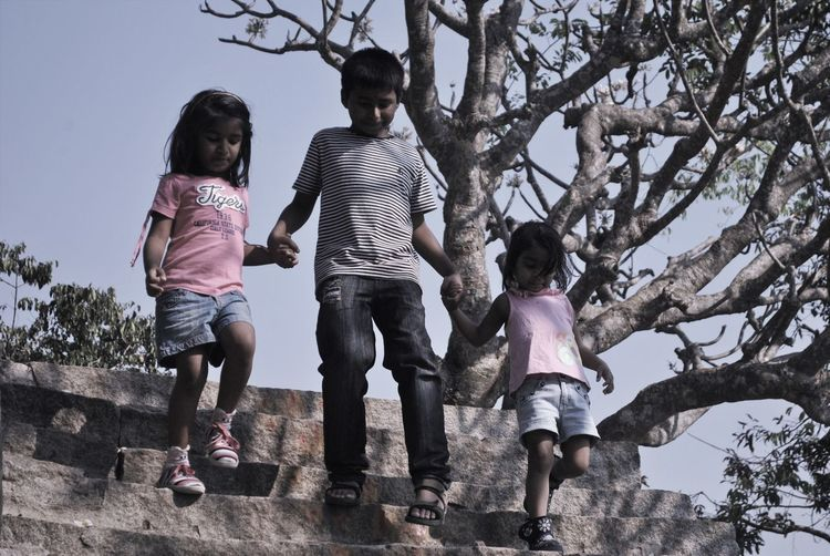 Children Day Family Full Length Happy Family Leisure Activity Lifestyles Nature Outdoors Sibling Love Siblings Tree Walking Home Walking Children_collection Brother & Sister Love Family Love  Family Walks Dramatic Angles Millennial Pink EyeEm Diversity Investing In Quality Of Life