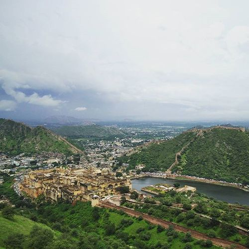 The view from Jaigarh fort. Overlooking the Amer Fort and the Lake.