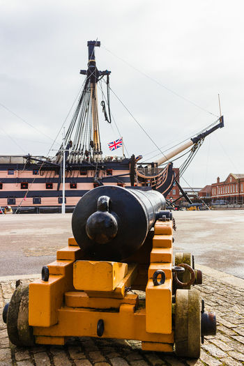 Portsmouth Historic Dockyard HMS Victory Portsmouth Canon Nautical Vessel No People Outdoors Ship Vessel