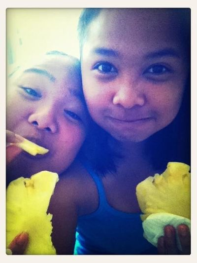 Eatin Pineapple ., Fatso..lol