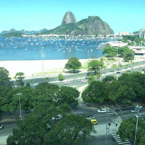 Enseada dê Botafogo Water Sky Nature Sea Day Plant No People Tree Outdoors Architecture Transportation Building Exterior Mountain Built Structure Mode Of Transportation Beauty In Nature Green Color Bay City