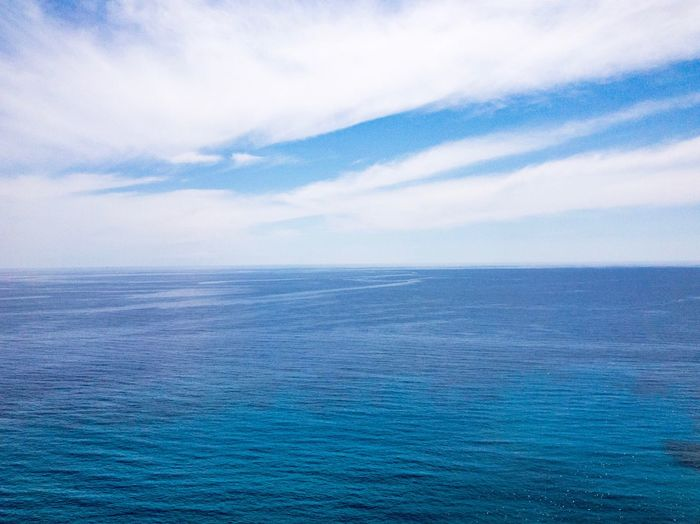 Sea and sky Cloud - Sky Blue Water Beauty In Nature Scenics - Nature Sky Sea Tranquil Scene Tranquility No People Day Nature Idyllic Backgrounds Horizon Over Water Full Frame Horizon Waterfront Outdoors Turquoise Colored