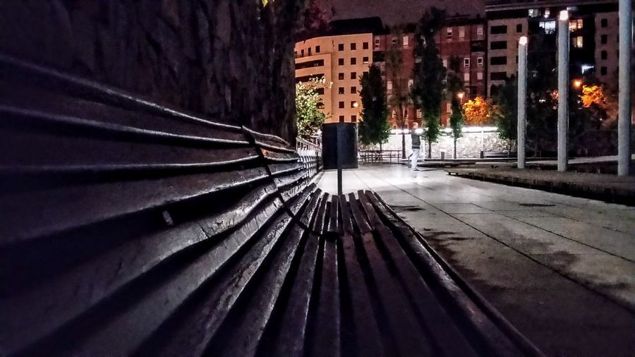 No People Outdoors Nightphotography Night Lights Nightshot Night City City Life Cityscapes CityWalk Low Angle View Bank Parc Catalunya, Sabadell. Spain Street Photography Embrace Urban Life