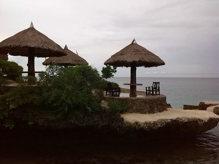 Beach Beauty In Nature Day Nature No People Outdoors Sea Sky Sommergefühle Thatched Roof Water