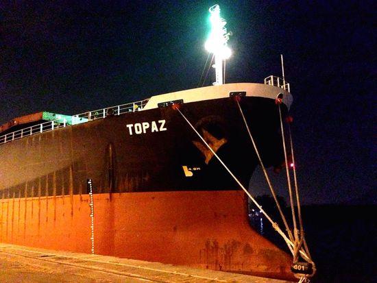 Navio atracado no Porto de Santos - Armazém 39. Topaz Porto De Santos Vessel Nautical Vessel Santos