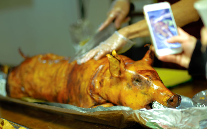 Lechon Baboy in the Office Philippine Cuisine Meat! Meat! Meat! Smoke Feast Philippines EyeEmNewHere Butcher Close-up Pig Pork Smoked
