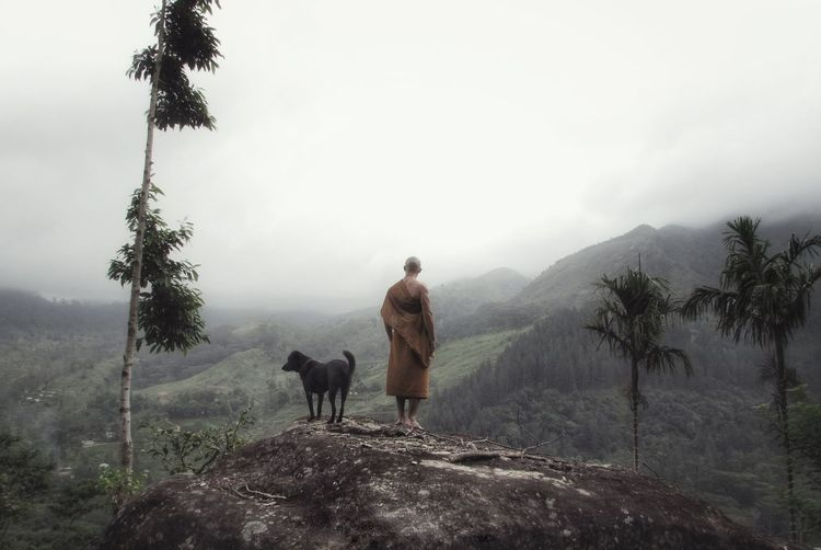 Trekking around the peaceful mountains in central Sri Lanka One Person Real People Nature Beauty In Nature Buddhism Buddhist Meditation Yoga Spirituality Tranquility Spiritual Mountain Mountain Range Forests Forest Forest Photography Peaceful Wilderness