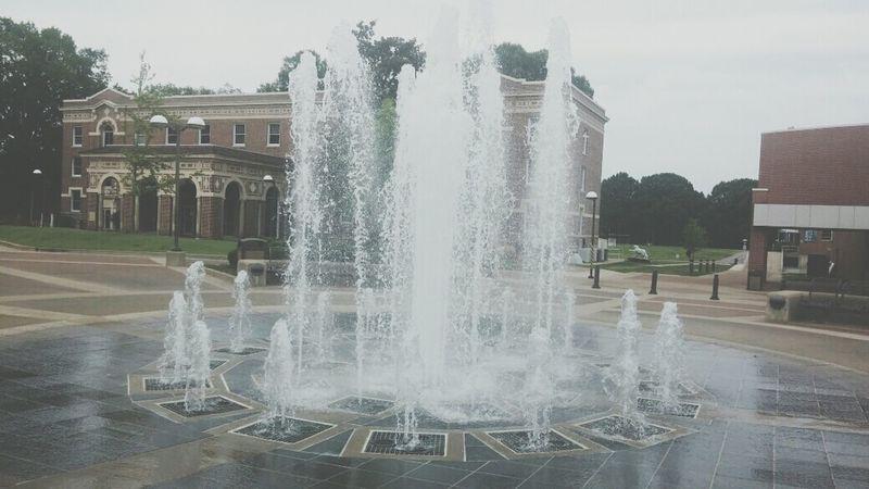 Fountain Water Fountain Tiger Love Blue