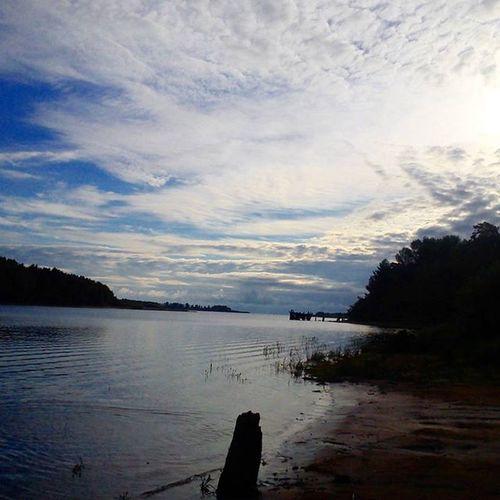 Выход из Себлы в море😍 себла утро небо Солнышко солнце наберегу рыбинка
