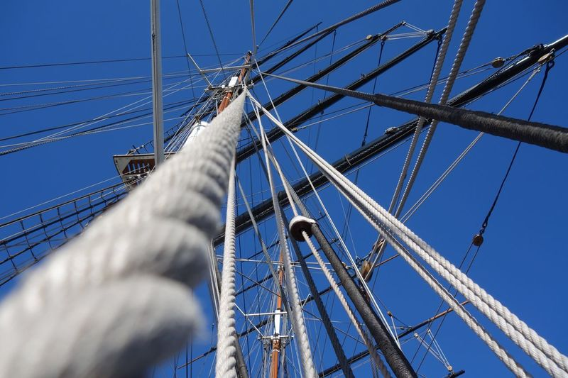 Mast Sailing Ship Sailing Rope Mast Ship Museum Southwark  Thames River Thames Greenwich Cutty Sark Greenwich.  Cuttysark Cutty Sark Day Blue Nature Built Structure Connection