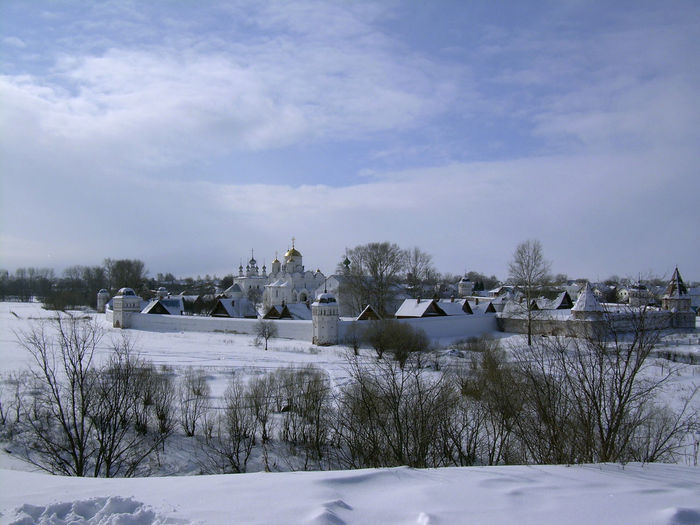 Russia Suzdal Architecture Beauty In Nature Building Building Exterior Built Structure Cloud - Sky Cold Temperature Covering Day Field House Nature No People Outdoors Plant Scenics - Nature Sky Snow Tree Winter