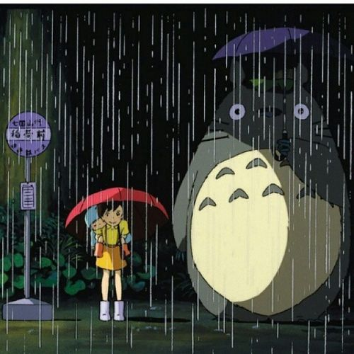 Boyfriend went to work so now its time for a cat nap and this fantastic movie. Myneighbortotoro Anime Cartoon Art alternative nerd geek beautiful colorful digital love rain animegirl animeworld kawaii animekawaii japan otaku Japanese movie