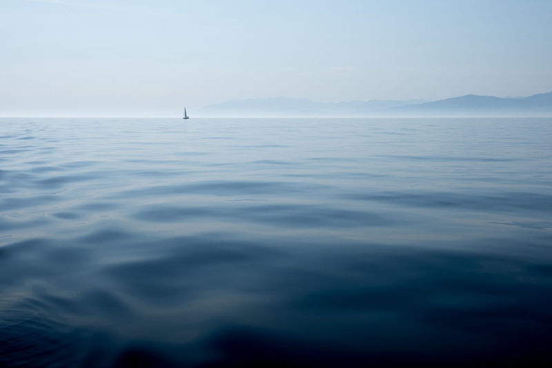 Beauty In Nature Blue Horizon Horizon Over Water Nautical Vessel No People Outdoors Sailboat Sailing Scenics - Nature Sea Tranquil Scene Tranquility Water The Great Outdoors - 2018 EyeEm Awards The Traveler - 2018 EyeEm Awards